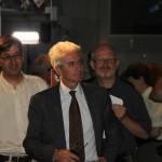 Sie verfolgen gespannt die Ereignisse. Michael Khan, Paolo Ferri und Rainer Kresken.
