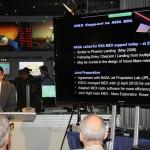 Der Weg der Daten von MSL Curiosity zum Mars Express und zur Erde wird von Michel Denis erklärt.