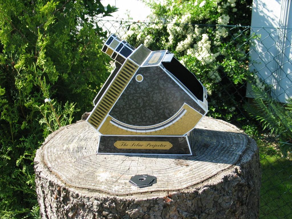 Einfacher Sonnenprojektor zur sicheren Sonnenbeobachtung.