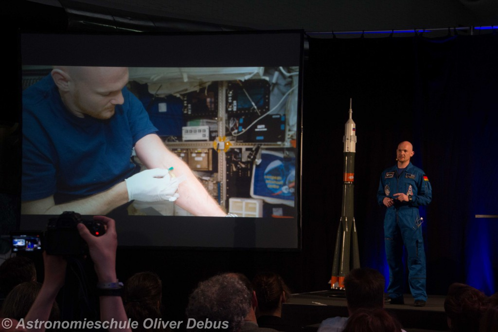 Medizinische Experimente gehörten zum Forschungsprogramm Gersts Blue Dot Mission.