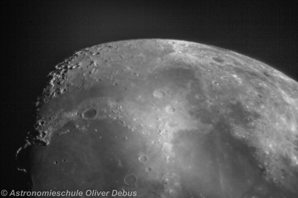 Detailaufnahme des Mondes.