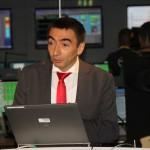 Michel Denis erläutert wie die Datentransmission von Curiosity über Mars Express gesehen soll.